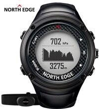 Северная край Для мужчин спортивные GPS часы Мужчины цифровые часы Водонепроницаемый сердечного ритма Мониторы альтиметр барометр Компасы часов Пеший Туризм