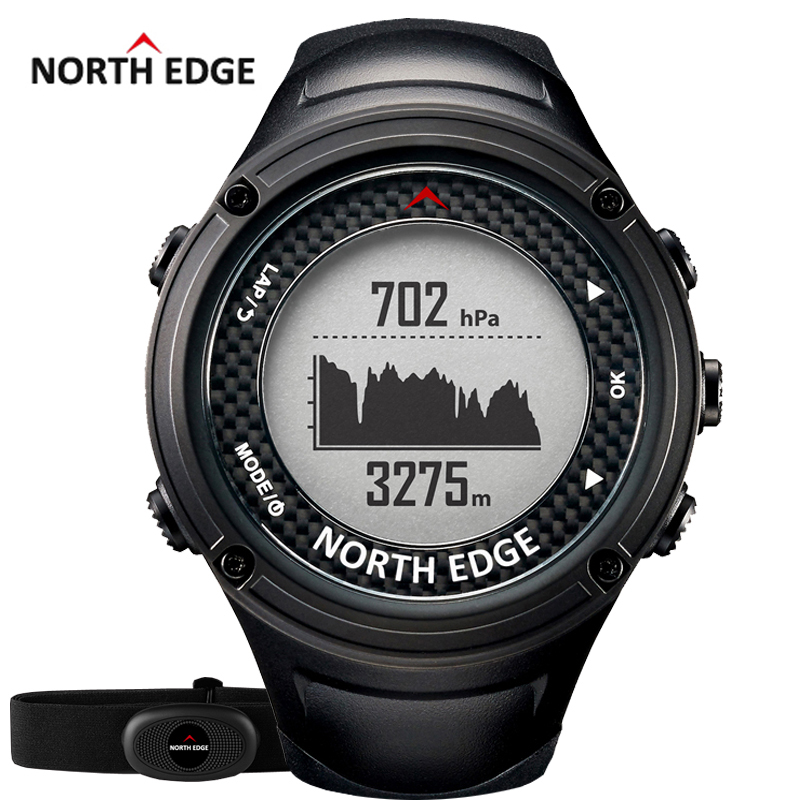 NORTH EDGE Men s Sports GPS watch men Digital watches Waterproof Heart