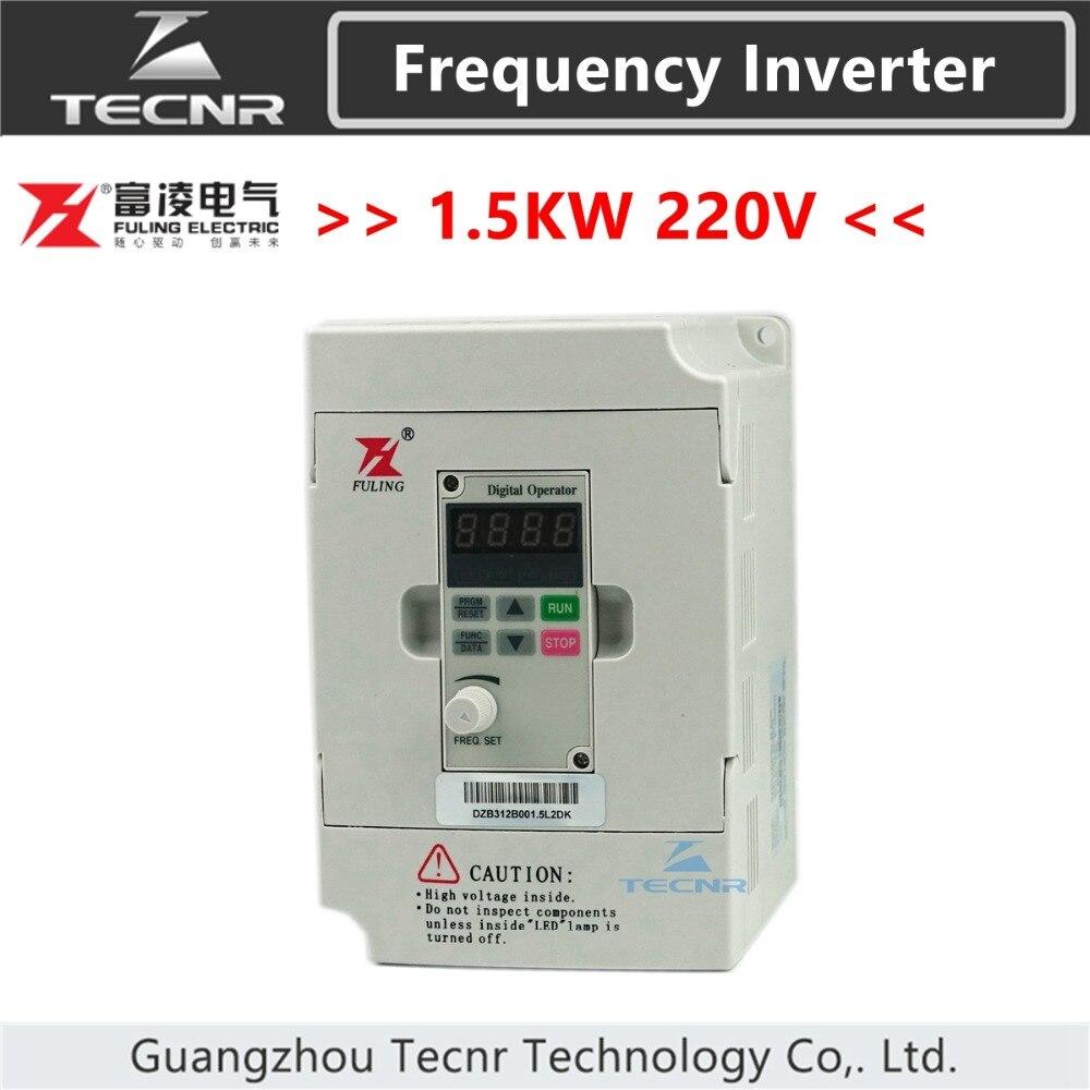 1.5KW 1.5KW Fuling inversor de freqüência 220 V para 800 W cnc spindle motor