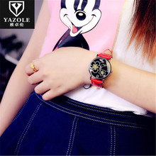Women Watches YAZOLE Plum Flower Ladies Flower Quartz Watch Drop Shipping Quartz Wristwatches Montre Femme Christmas Gift D42