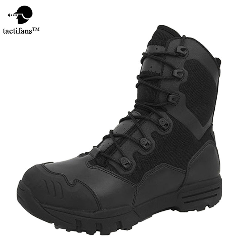 Tactifans Outdoor Genuine Leather U.S. Military Assault Tactical Boots Breathable  Anti-Slip Men Fishing Travel Hiking Shoes men of war assault squad ключ стим