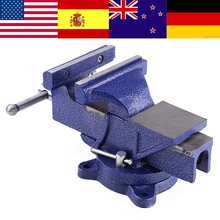 Heavy Duty Vise with Anvil & Swivel Base Engineers Clamp Jaw Work Bench Top Quality Bench Clamp Cast iron 5