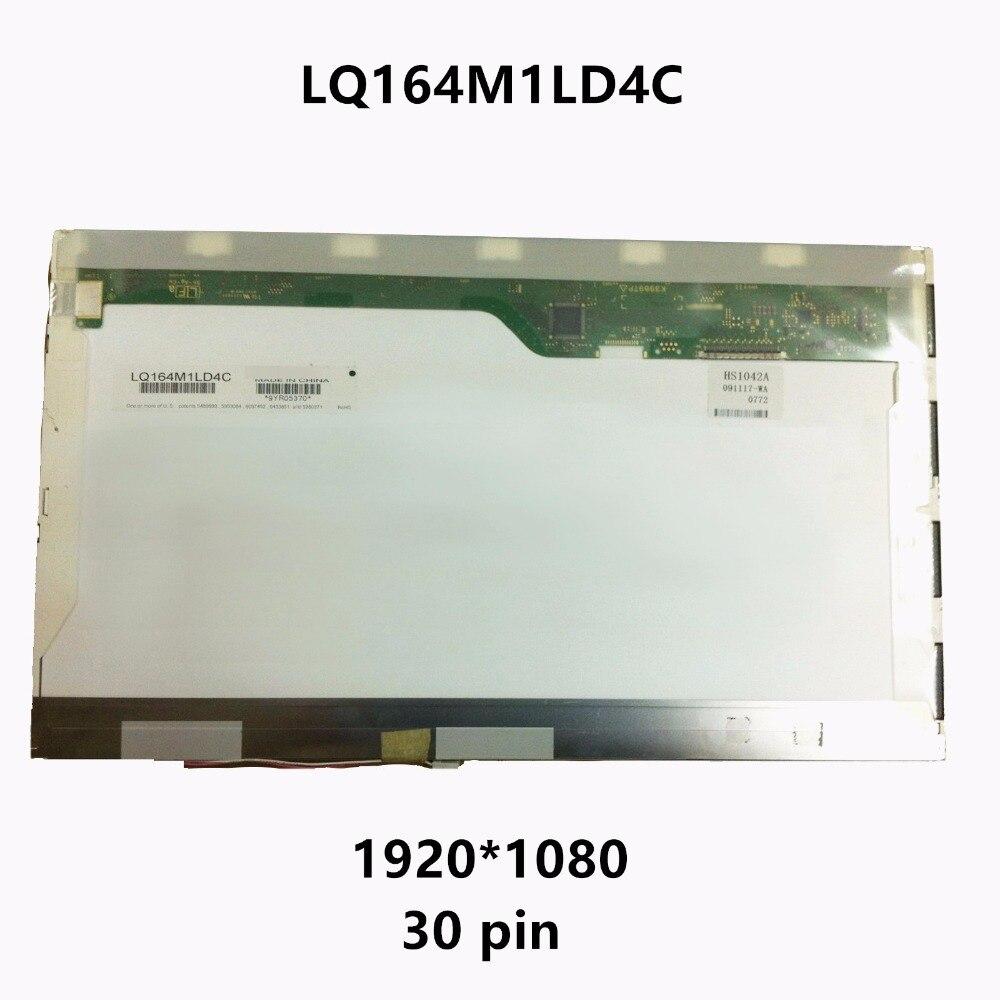 16.4 Laptop LCD Screen Display Matrix Panel WXGA CCFL LQ164M1LD4C For Sony Vaio VPC-F VPCF13S8R VPC-F115FM PCG-81212 81114L F1