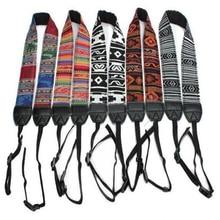 Retro Style Double Cotton Yard Colorful Pattern Camera Shoulder Neck Sling Hand Strap Belt