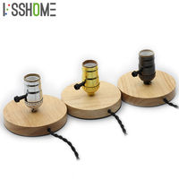 VSSHOME Table Lamps Vintage American Country Retro Style Desktop Decoration Solid Wood Aluminum Material E27