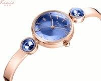 2017 Sale Kimio Luxury Jewelry Blue Ladies Quartz Watch Dress Fashion Casual Women Watches Alloy Analog Rhinestone Bracelets
