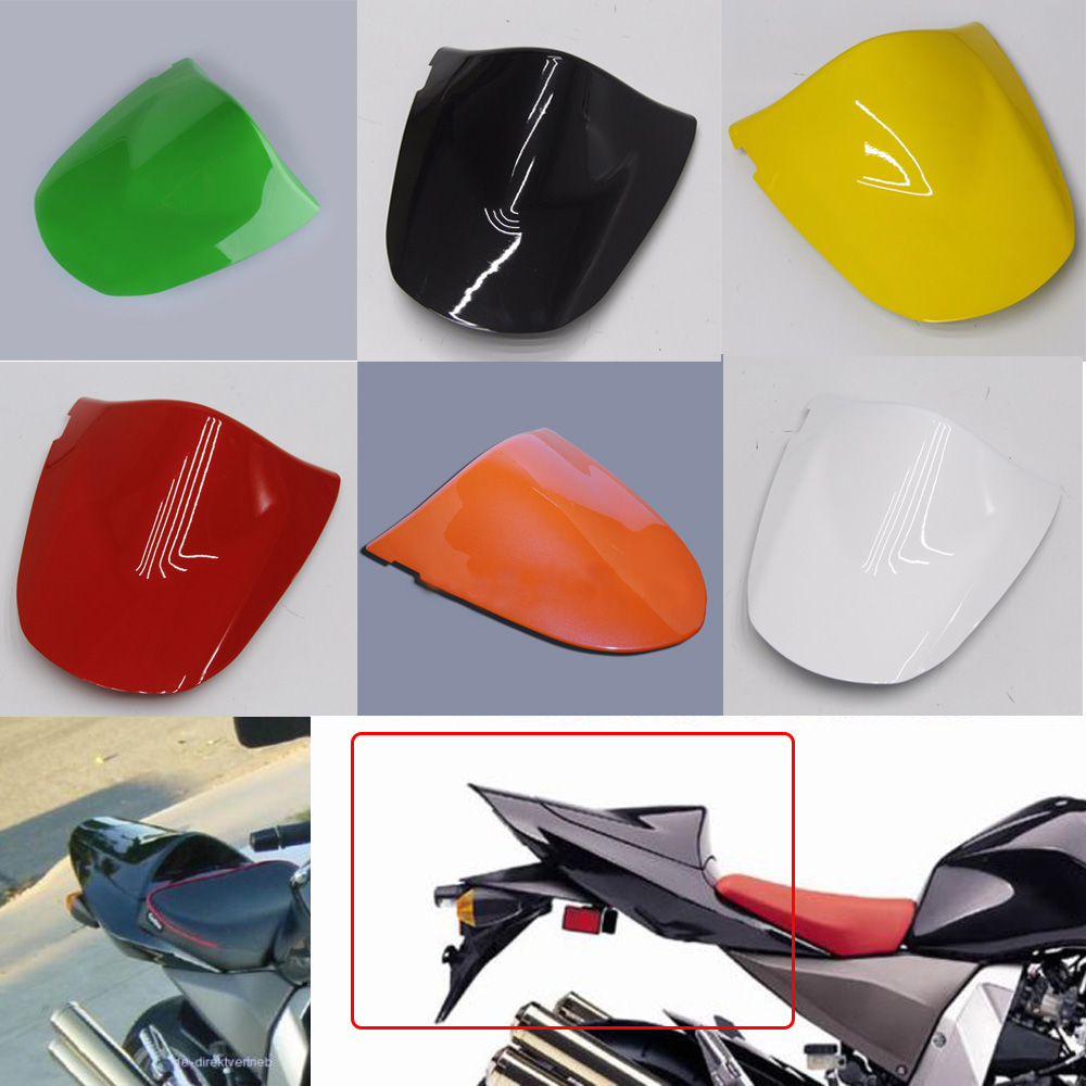 6 Colors Motorcycle ABS Plastic Rear Passager Seat Cover Cowl For Kawasaki ZX6R ZX-6R 2003 2004 ZX 6R 03 04 Z1000 Z750 2003-2006 for yamaha yzf 1000 r1 2004 2005 2006 motorbike seat cover motorcycle yellow fairing rear sear cowl cover free shipping