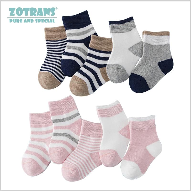 5 Pair/lot Baby Boy Socks Newborns Cotton Summer Autumn Striped Girls Socks Infant Toddle Socks Kids Short Socks For 0-2Years
