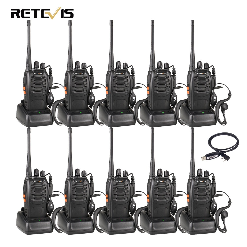 10 pcs Talkie Walkie Retevis H777 UHF 400-470 mhz 16CH Jambon Radio Hf Émetteur-Récepteur 2 Way Radio Communicateur comunicador Pratique