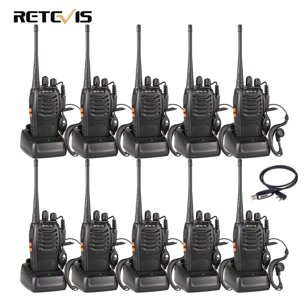 10 pcs Talkie Walkie Retevis H777 UHF 400-470 mhz 16CH Jambon Radio Hf Émetteur-Récepteur 2 Way Radio Communicateur comunicador Pratique