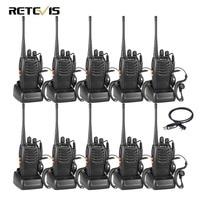 10pcs Walkie Talkie Retevis H777 UHF 400 470MHz 16CH Ham Radio Hf Transceiver 2 Way Radio Communicator Comunicador Handy
