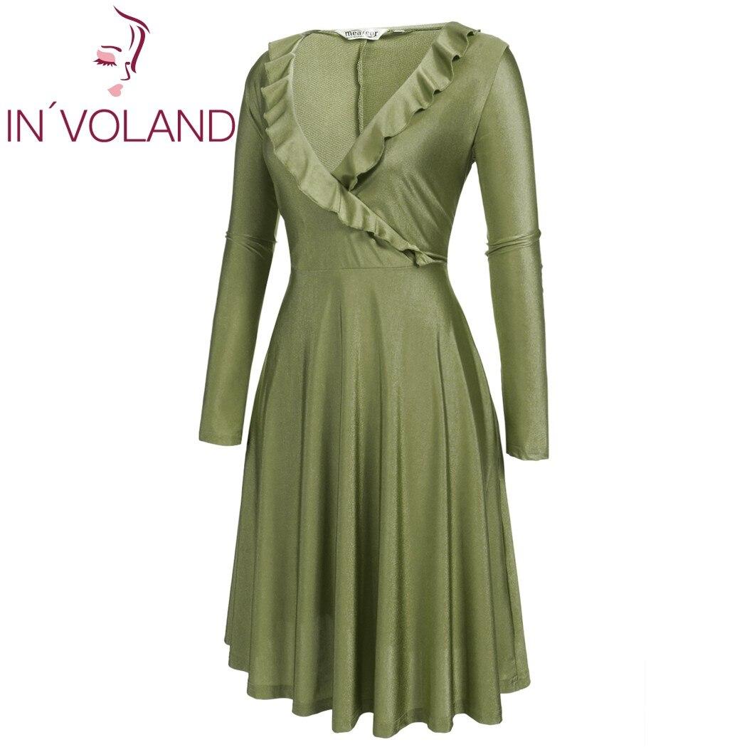 IN'VOLAND Vintage Dress Dress Plus Չափ կանանց համար - Կանացի հագուստ - Լուսանկար 4