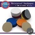 100pcs 2 Inch 50mm Waterproof Sandpaper Sanding Discs Hook & Loop Silicon Carbide Wet/Dry 60 to 10000 Grit Abrasives Disc