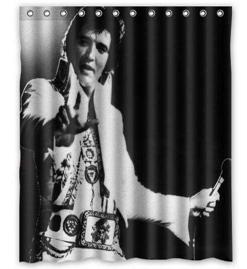 Elvis Presley Shower Curtain 12 Holes To Which Rings Attach 60 X 72 In Curtains From Home Garden On Aliexpress