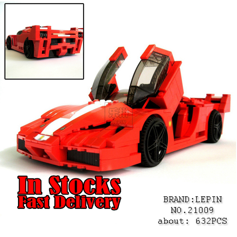 Lepin Technic Creative Series The Out of Print FXX 1:17 Racing Car F1 car-styling Building Blocks Bricks Toys for children 8156 new lepin 21009 632pcs genuine creative series the out of print 1 17 racing car set building blocks bricks toys