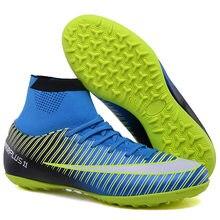 91eec110 Fútbol Profesional zapatos hombres mujeres fútbol de césped interior  zapatillas Superfly Futsal Original entrenamiento botas de