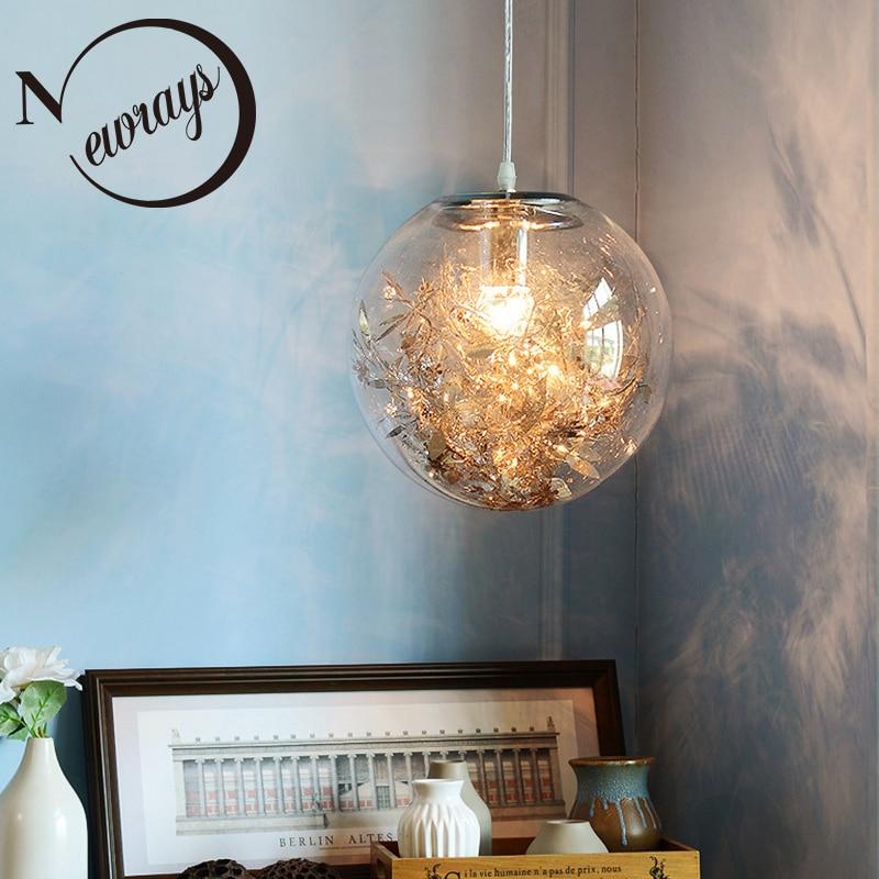Original Modern Led Chandelier Nordic Deco Lighting Glass Ball Fixture Novelty Living Room Hanging Lights Restaurant Suspended Lamps Latest Technology Lights & Lighting Ceiling Lights & Fans
