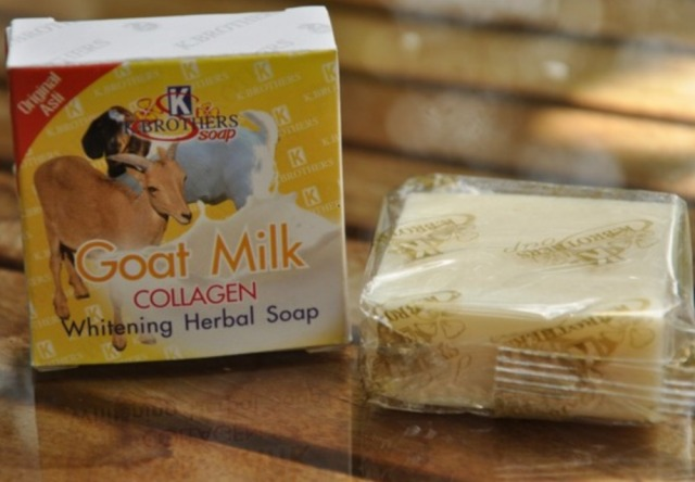 Thailand goat milk collagen whitening herbal Soap handmade soap face and skin care free shipping