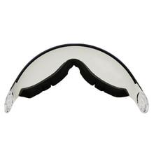 LOCLE MOON MS95 MS99 스키 헬멧 바이저 스페어 렌즈 UV 프로텍션 야외 스케이트 보드 헬멧 스키 등산용 추가 고글