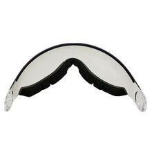 LOCLE ay MS95 MS99 kayak kaskı Visor yedek Lens UV koruma açık kaykay kask ekstra gözlük kayak dağcılık