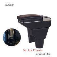 Armrest box For kia picanto central Store content Storage box armrest box with cup holder ashtray modification accessories