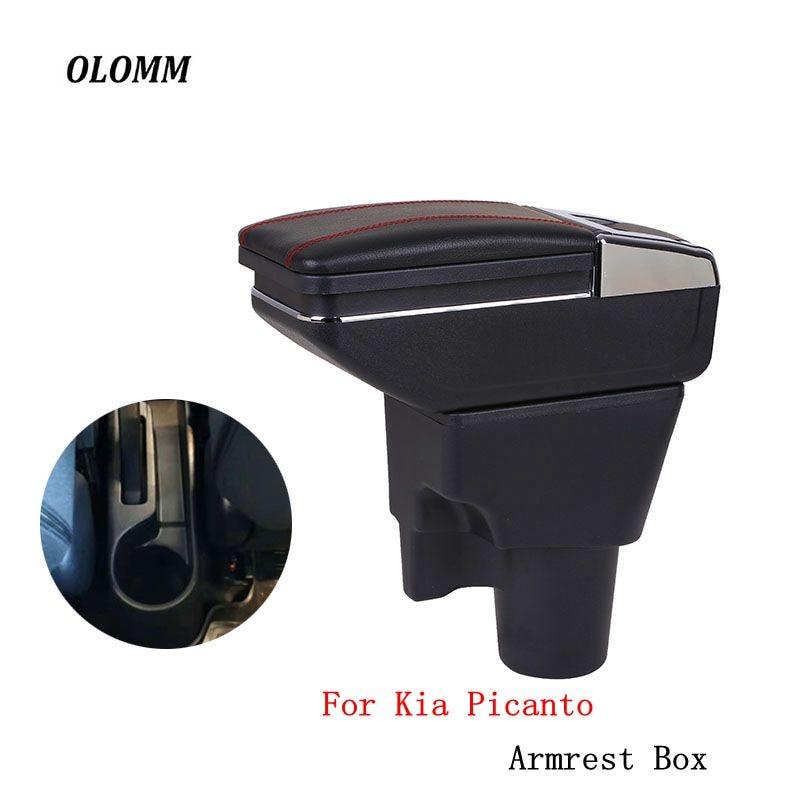 Box bracciolo Per kia picanto centrale contenuti Negozio scatola di Immagazzinaggio box bracciolo con il supporto di tazza posacenere accessori di modifica