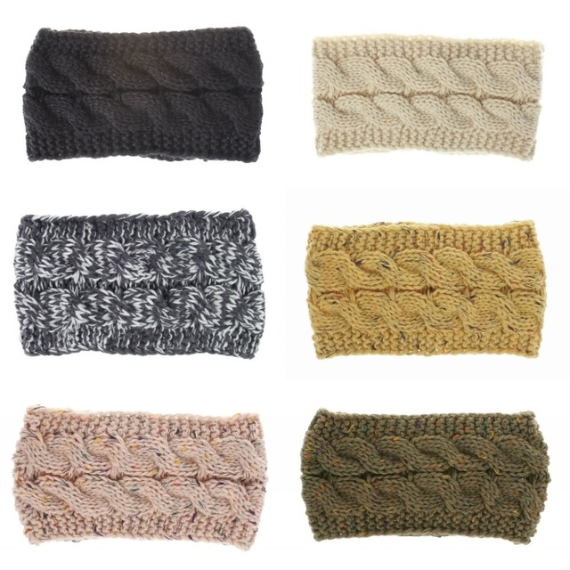Women s Classic Beanies Ear Warmers Head Wrap Thick Knit Headwrap Hat Cap 3a02f2bec115