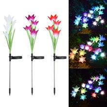 xmas Lily Flower Solar Colorful LED Light Garden Lawn Patio Yard Decorative Lamp  navidading bachelorette party xmas elk decor
