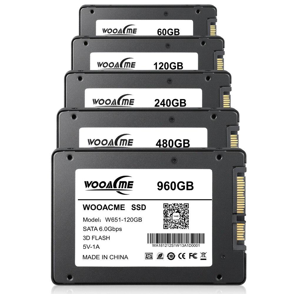 Image 2 - Wooacme W651 SSD 120GB 240GB 480GB 960GB 128GB 256GB 2.5 inch SATA III SSD Notebook PC Internal Solid State Drive-in Internal Solid State Drives from Computer & Office