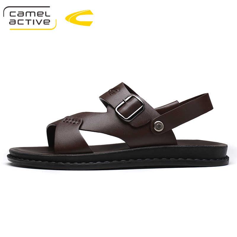 الجمل نشط جديد الصيف الرجال الصنادل الرجال ستوكات الجلود أحذية الشاطئ شبشب رجالي حذاء خفيف الذكور الشاطئ شباشب لخارج المنزل