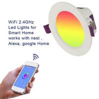 LED Downlight Spotlight Ceiling Lights 7W APP Control Work With Amzon Alexa & Google Home Smart WIFI LED Spot Lighting