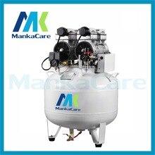 Manka Care – 65L 750W*2 Dental oil free less air compressor Rust-proof chamber Tank Silent Mute Flush air pump
