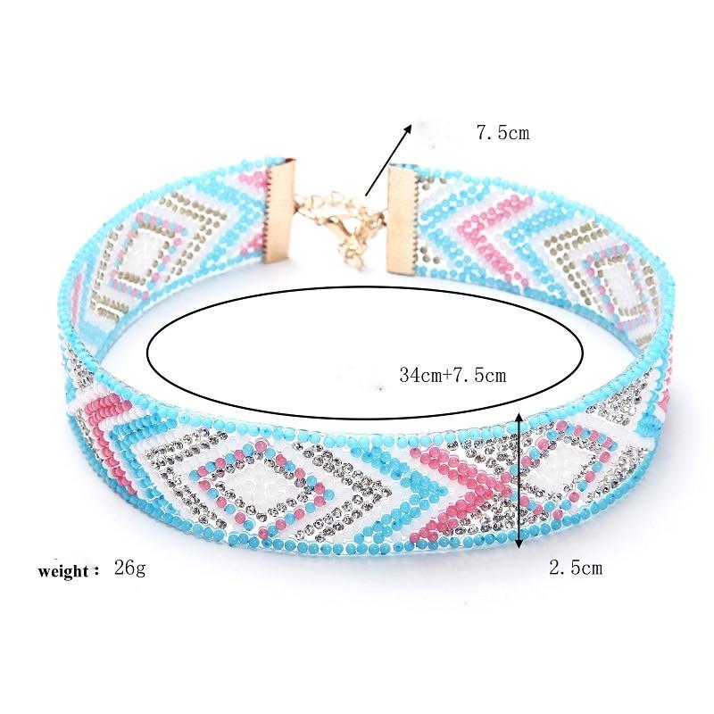 Naomy & ZP Beads Collar Choker մանյակ Գոտիկներ - Նորաձև զարդեր - Լուսանկար 2