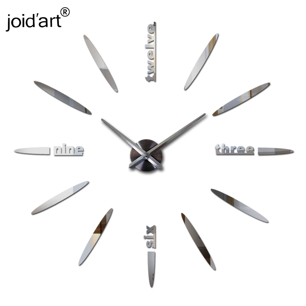 top fashion new  Modern wall clock watch Wall Stickers clocks reloj de pared home decoration horloge Needle Quartz wall clocks