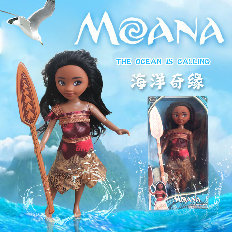 New Princess Moana 25CM Action & Toy Figures Doll Toy Kawaii PVC Cartoon Movie Models For Girls Kids Lover Christmas Gift