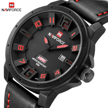 NAVIFORCE Mens Quartz Watch Fashion Watches Sport Man Leather Army Military Wristwatch Male Clock Waterproof Relogio Masculino