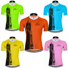 NEW men s Orange yellow Fluorescent green cycling Jersey 5 style Cycling  Clothing Pink top shirt bike wear Netherlands utrecat 464df8d7d