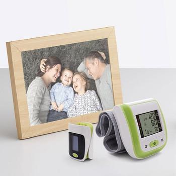 BOXYM Medical Digital Wrist Blood Pressure Monitor Sphygmomanometer Finger Pulse Oximeter SpO2 Saturation Meter Family Health 3