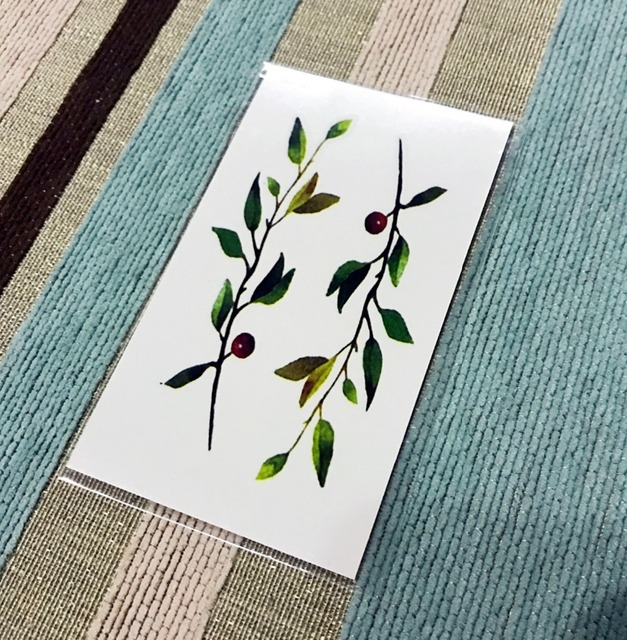 Waterproof Temporary Tattoo Sticker Cute Branch Water Transfer Fake Tattoo Flash Tattoo For Girl Boy