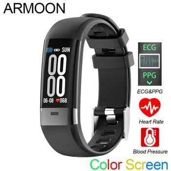 Pulsera inteligente G36 ECG PPG de banda inteligente sueño Monitor de Fitness Tracker presión reloj pantalla a Color deportivos banda