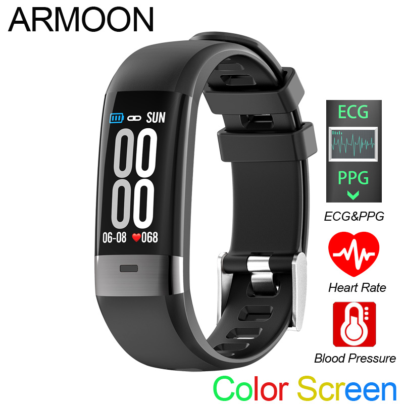 Smart Bracelet G36 ECG PPG Heart Rate Smart Band Sleep Monitor Fitness Tracker Blood Pressure Watch Color Screen Multisport Band-in Smart Wristbands from Consumer Electronics