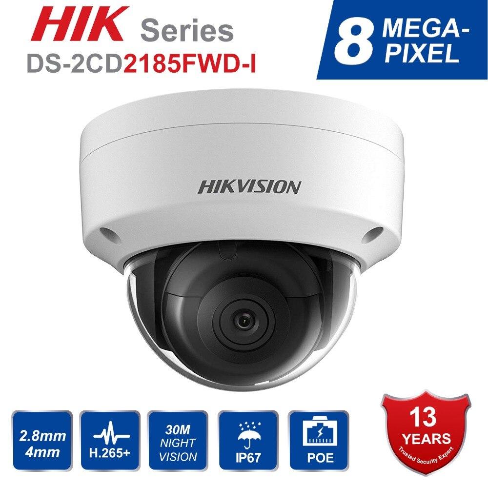 Hik Original Anglais DS-2CD2185FWD-I 8MP Extérieure Dôme ip Caméra H.265 Actualisable CCTV interface de caméra de sécurité kamera 2.8mm