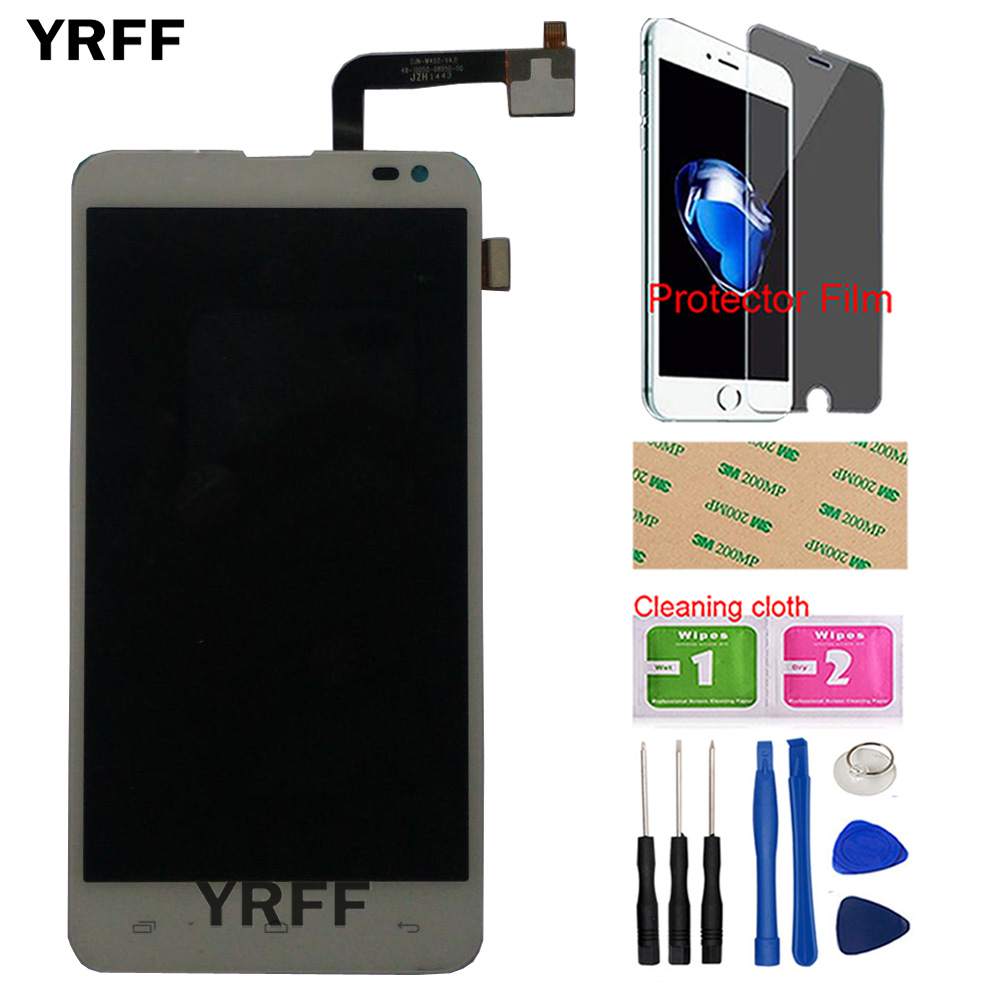 5'' Mobile LCD Display For Fly EVO Tech 4 Quad IQ4514 LCD Display Touch Screen Digitizer Full For Fly IQ4514 Quad Protector Film