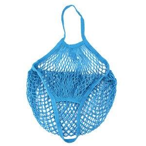 Image 5 - Handbag 2019 New Mesh Net Turtle Bag String Shopping Bag Reusable Fruit Storage Handbag Totes