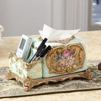 new year new year Vintage luxury home decoration tissue box fashion remote control pumping paper storage box decoration