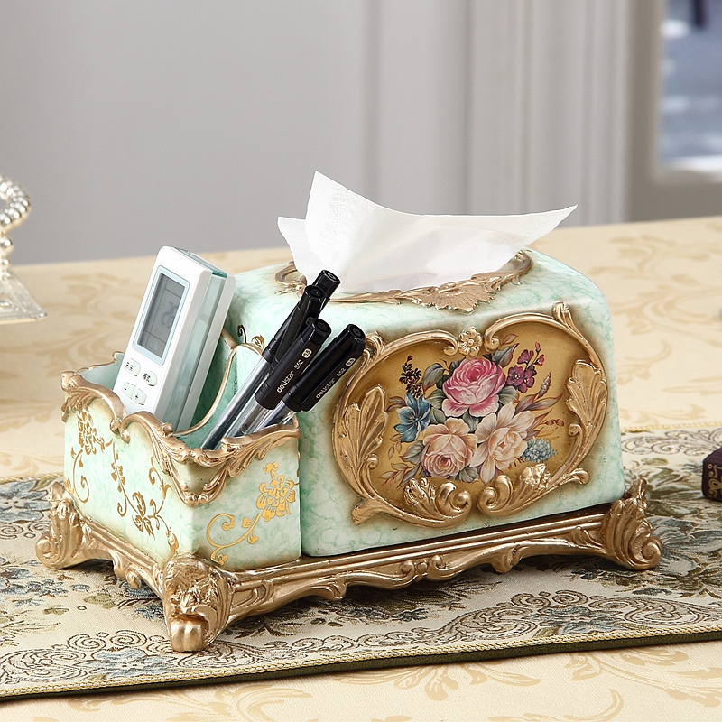 new year new year Vintage luxury home decoration tissue box fashion remote control pumping paper storage box decoration in Tissue Boxes from Home Garden