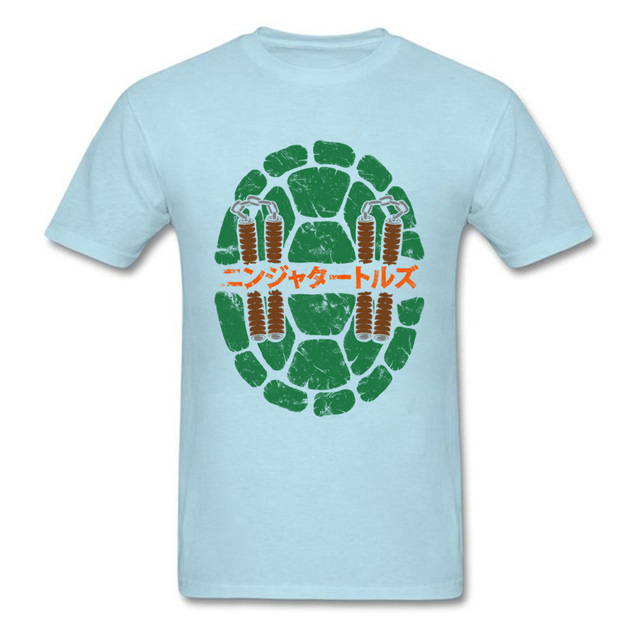 New Design Men T Shirt Japan Anime T Shirt Turtle Shell Print Tops