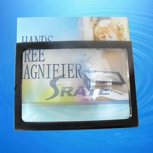 Hanging Desk Type Double Use A4 Size Big Lens Magnifer with 4 LED Illuminated Magnifier Reading Loupe Especially for The Old