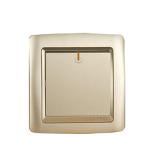 CHINT NEW2K Wall Plate Switch Light Champagne Gold Five Hole Socket One Gang Multiple Control