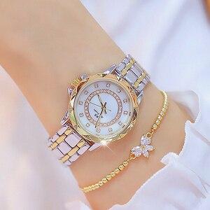 Image 2 - Diamond Women Luxury Brand Watch 2019 Rhinestone Elegant Ladies Watches Gold Clock Wrist Watches For Women relogio feminino 2020
